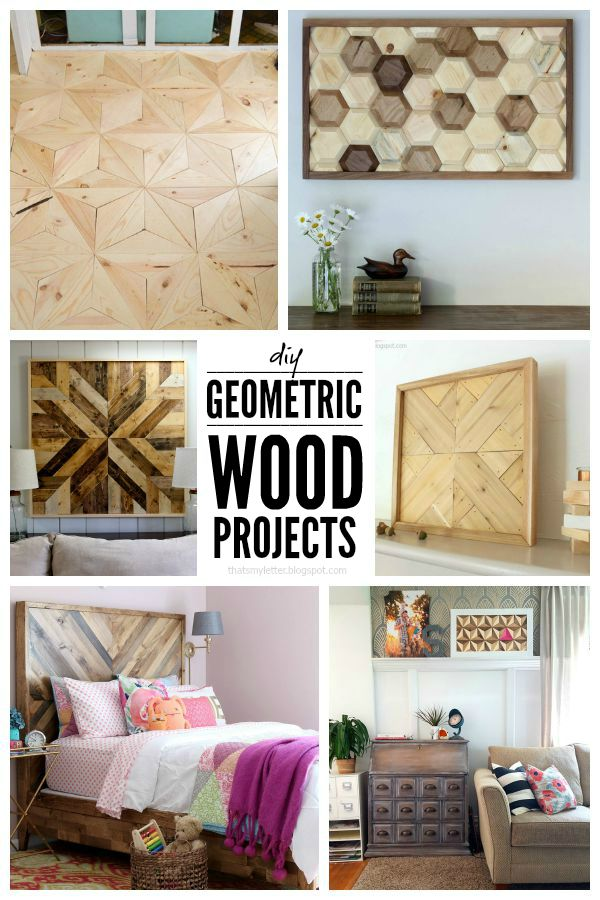 6 DIY geomteric wood project tutorials