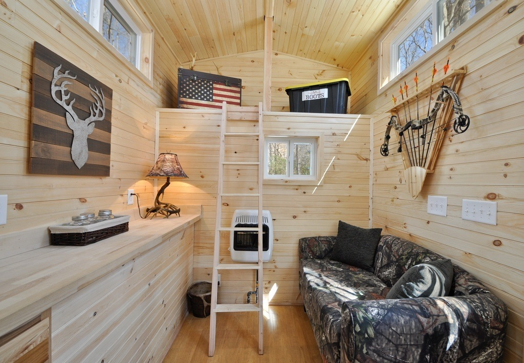 Listed At $43,500, This Hunter Themed Home Is A Great Catch! For More  Information On The Specifications Of The Timberland Tiny House, Financing,  Etc., Visit