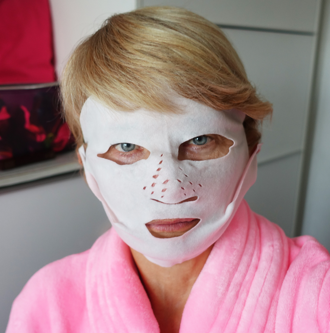 A look for a horror film - Is This Mutton? blogger tries out the dry sheet mask from Charlotte Tilbury