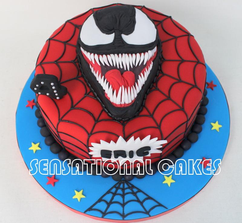 Cakes2share Singapore Venom Evil Spider Man Theme 3d Cake
