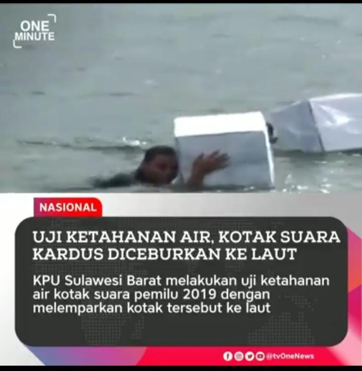 KPU Cemplungin Kotak Suara Kardus ke Laut, Komentar Netizen Bikin Geleng Kepala