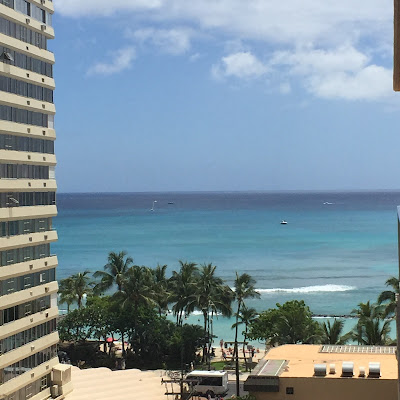 View from Pacific Beach Hotel in Hawaii