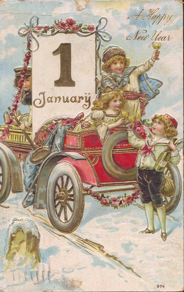 cute and beautiful vintage new years postcards vintage everyday