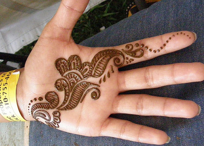 Latest Simple Mehndi For Palm 2016