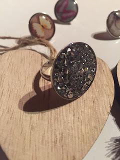 bague anneau création crystal rock fantaisie swarovski