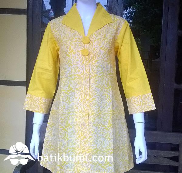 Tunik BATIK CAP Mawar Kuning