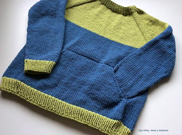 Con hilos, lanas y botones: Quokka Sweater Color Block