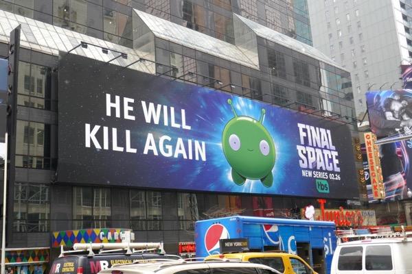 Final Space series premiere billboard