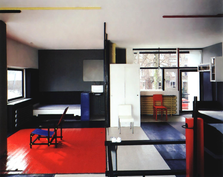 archimodell rietveld schr der haus. Black Bedroom Furniture Sets. Home Design Ideas