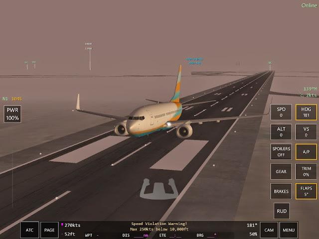 Speed violation Jeu simulation pilotage Infinite Flight
