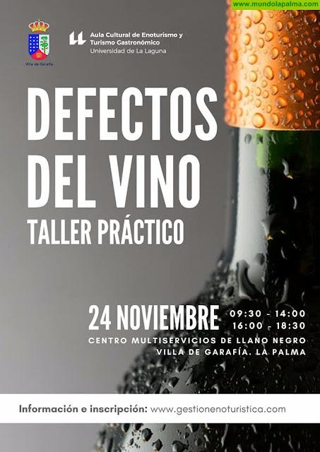 """Curso de """"Defectos del Vino"""" en Garafía"""