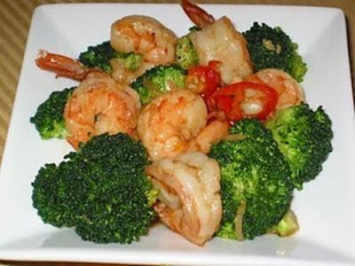 Resep, cara memasak, cara membuat, udang, tumis, brokoli, udang tumis, tumis brokoli, udang tumis brokoli