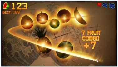 Game Arcade Offline Terbaik Fruit Ninja Premium Mod Apk