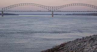The Hernando de Soto Bridge in Memphis, Tennes...