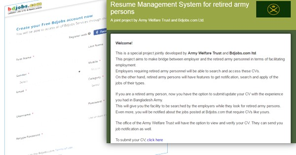 Jobs for Retired Army officer in Bangladesh