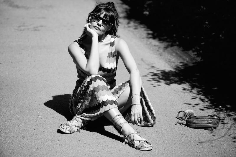 Fashionfotografie in Schwarz weiß