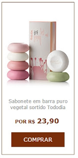 Seis fragrâncias inovadoras e encantadoras na caixa presenteavel de Natura Tododia Sabonete Sortidos
