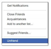 Unfriend Facebook Without Them Knowing