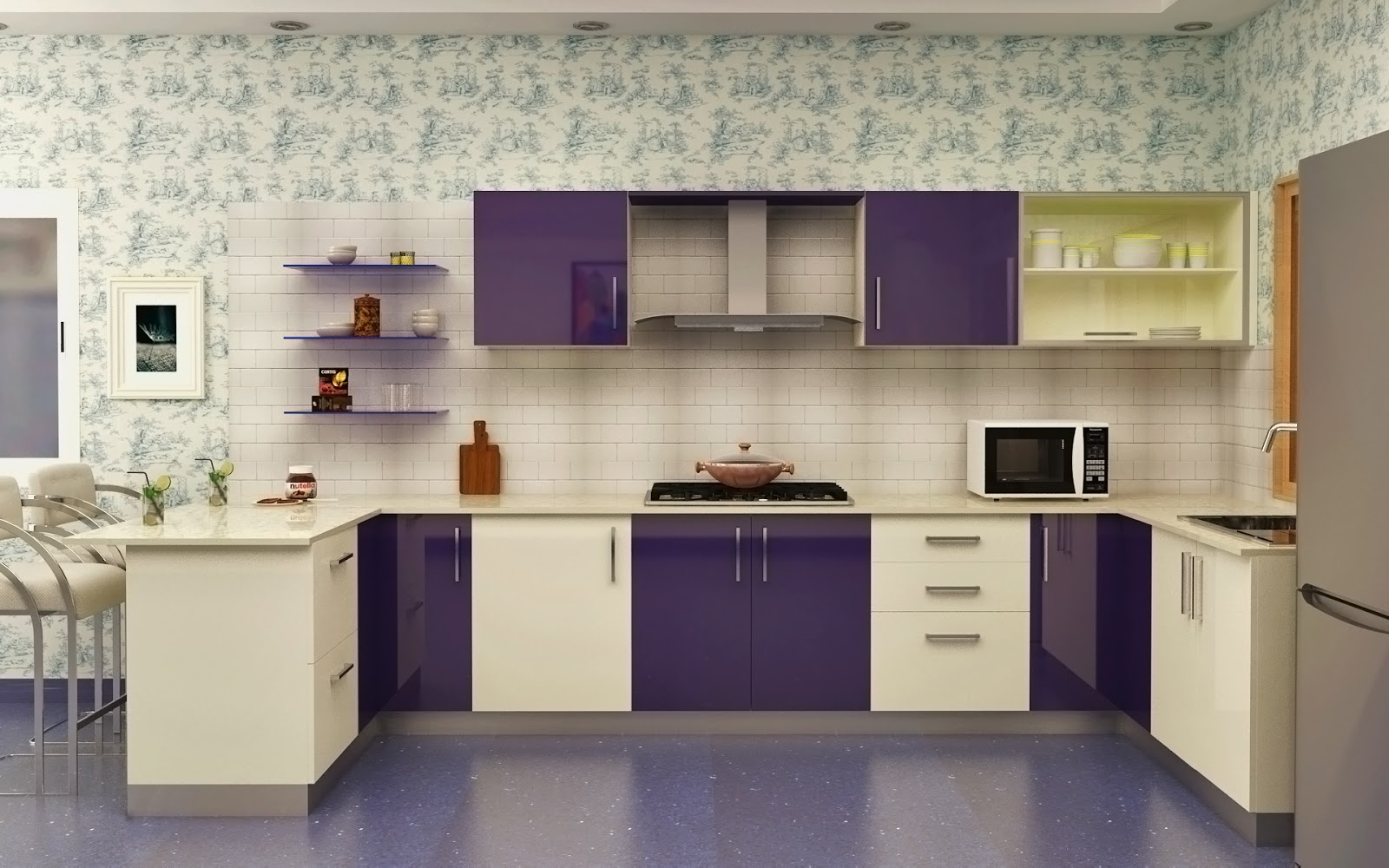 New 100 Modular Kitchen Designs, Cabinets, Colors
