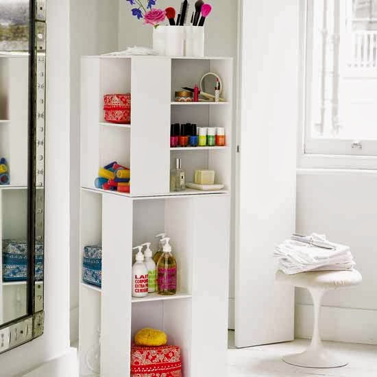 Modern Furniture: 2014 Small Bathrooms Storage Solutions Ideas