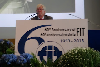 Pic of keynote speaker at FIT Berlin Conference in 2014