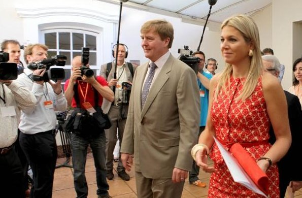 Crown Princess Maxima and visited a seminar Future of Food Business at the university of Sao Paulo