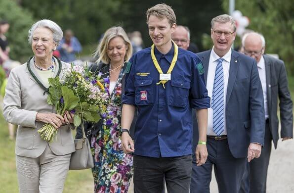 Princess Benedikte attended the Danish Scouts of Southern Schleswig's 100th anniversary reception in Eggebek