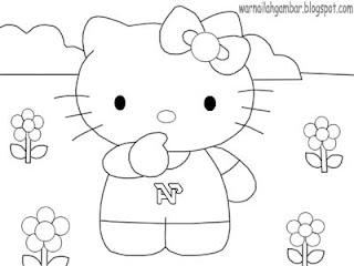 Mewarnai Hello Kitty Mewarnai Gambar