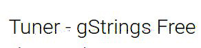 tuner g string