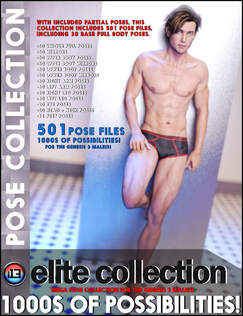 i13 Elite Collection Poses for the Genesis 3 Male