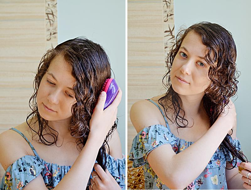 Kręcone włosy, loki, pielęgnacja włosów kręconych, jak dbać o włosy kręcone, podkreślenie skrętu loków, skręt, tangle teezer