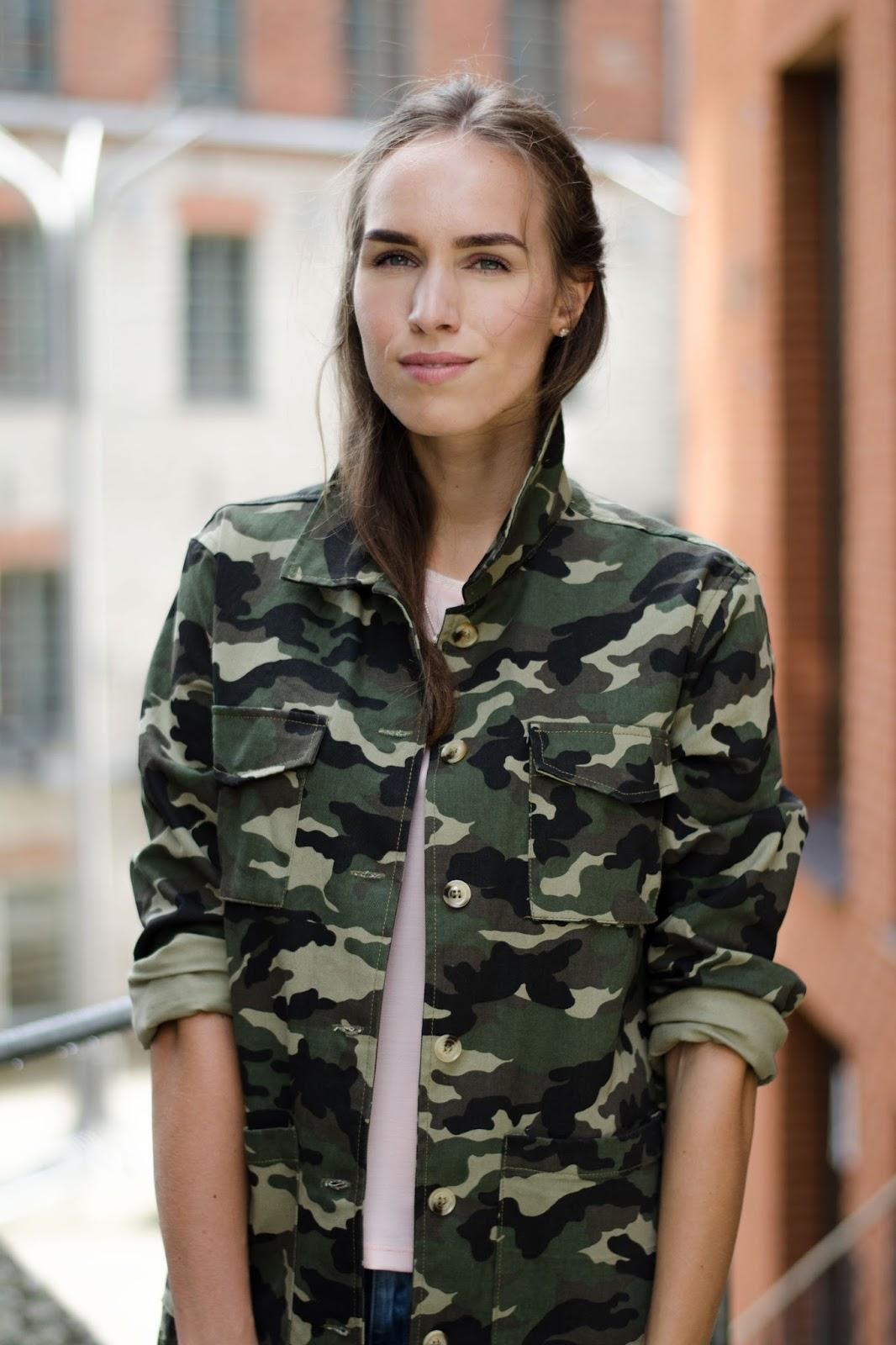 green military camo jacket