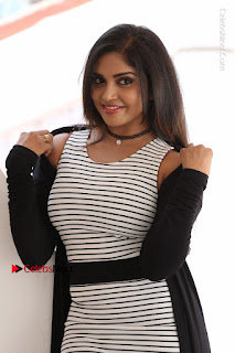Telugu Actress Karunya Chowdary Stills in Black Dress at Soda Goli Soda Movie Opening  0023.JPG