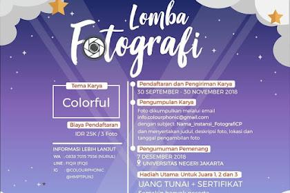 Lomba Fotografi Colourphonic 2018 Teknologi Pendidikan UNJ