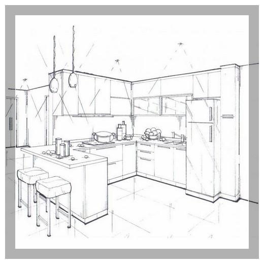40 Koleski Terbaik Gambar Sketsa Desain Kitchen Set Tea And Lead