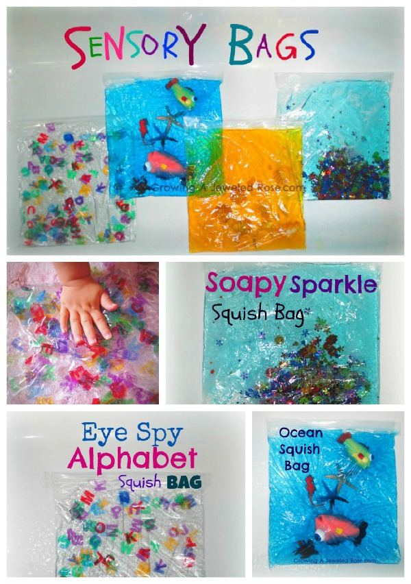 Sensory play activites for babies growing a jeweled rose for Craft paint safe for babies