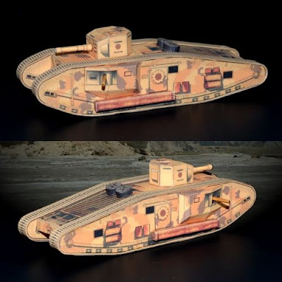Indiana Jones Mk VII Tank Paper Model