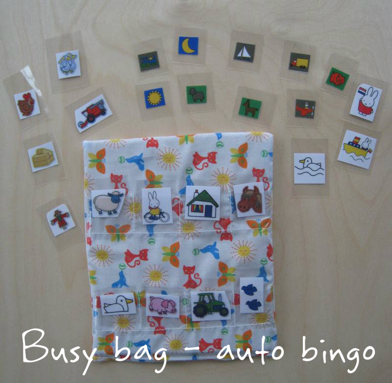 Busy bag - auto bingo