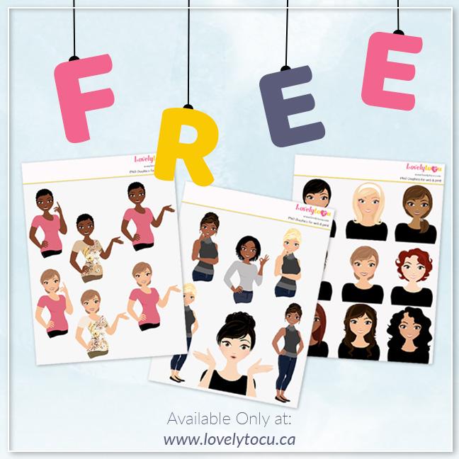 Free character sample pack from Lovelytocu