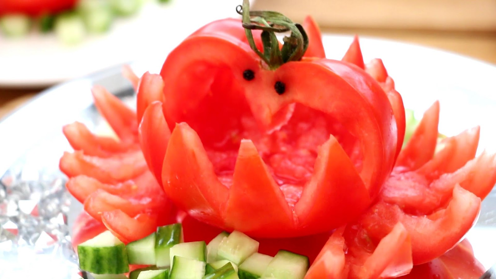Vegetable Carving With Tomato ItalyPaul - Art...