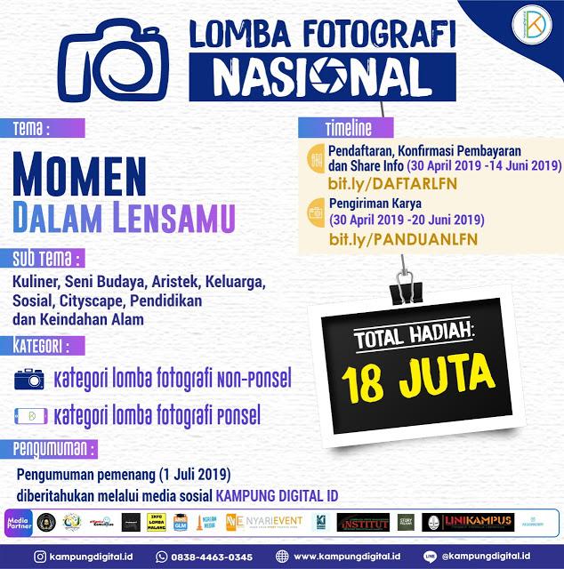 Lomba Fotografi Terbaru 2019, Nasional Kampung Digital