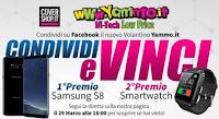 Logo Vinci gratis Damsung Galaxy S8, Smartwath e Cover personalizzate con Yammo