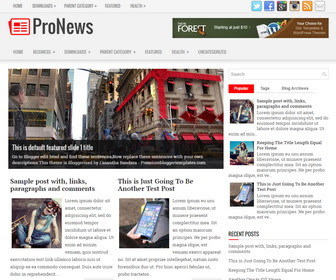 ProNews SEO Friendly Blogger Template Terbaru