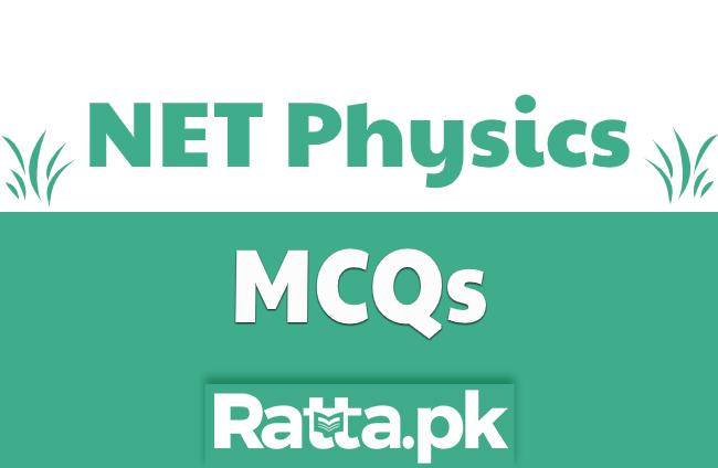 NET Physics Past Paper MCQs solved pdf Download