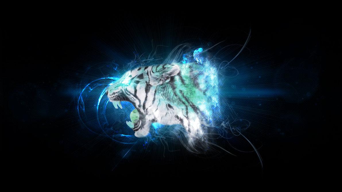 Cool Blue Tiger Wallpaper