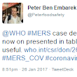 WHO sets the table....and lays it with MERS-CoV details