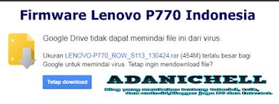 Firmware Lenovo P770 Indonesia