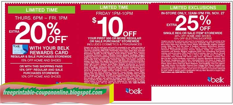 Belk coupons promo codes