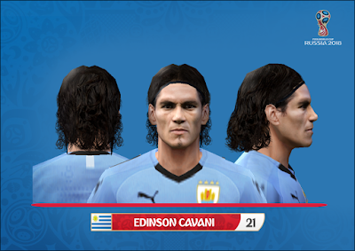 PES 6 Faces Edinson Cavani by Alegor