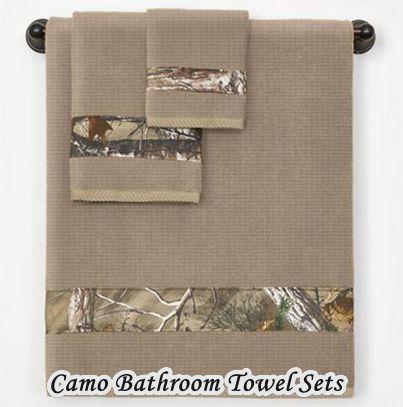 Camo Bathroom Towel Set 3 Piece